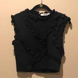 Zara Knit Ruffle Detail Tank Top